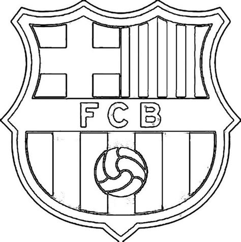 Kleurplaat Logo by Kleurplaat Fcb For Barcelona Logo Kleurplaat Coloriage