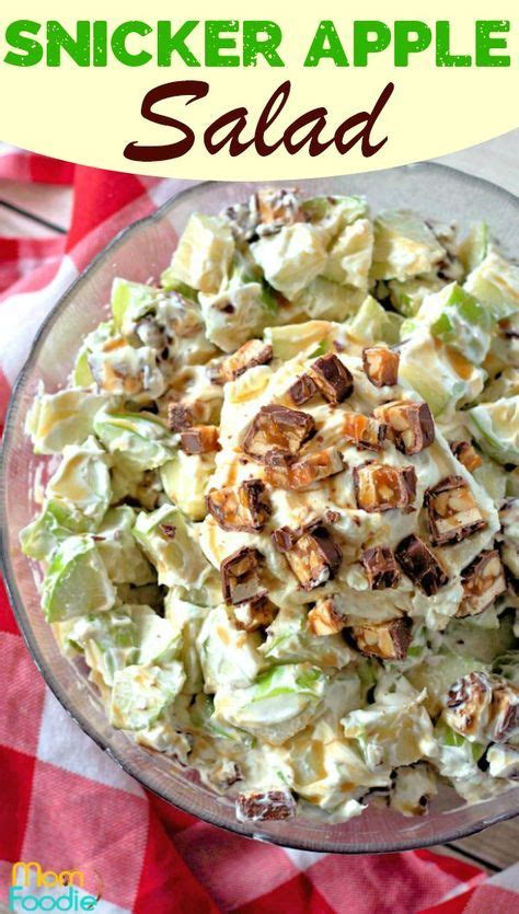 Too much cheese, not enough napkins and, is it just in advance of the last al fresco dining opportunities of the summer, we put together a simple, foolproof. Snicker Apple Salad recipe - great summer picnic food! # ...