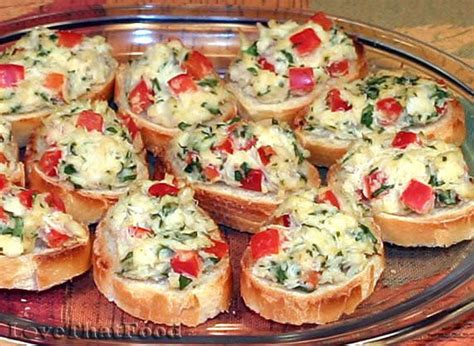 cold appetizers finger food crab crostini recipe with