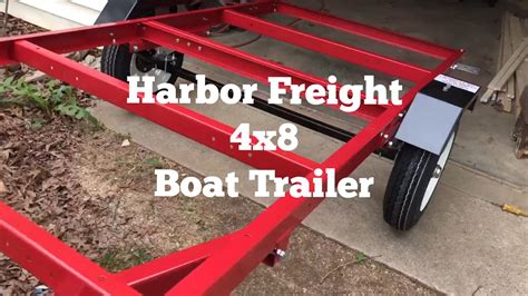 Boat Trailer Youtube by Harbor Freight 4 X 8 Trailer Boat Trailer Youtube