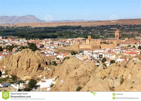 guadix spain andalusian mountains town royalty andalusia between