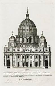 The elevation St. Peter's Church at Rome, with 2 Separate ...