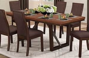 Compson, Brown, Rectangular, Extendable, Dining, Table, From, Homelegance