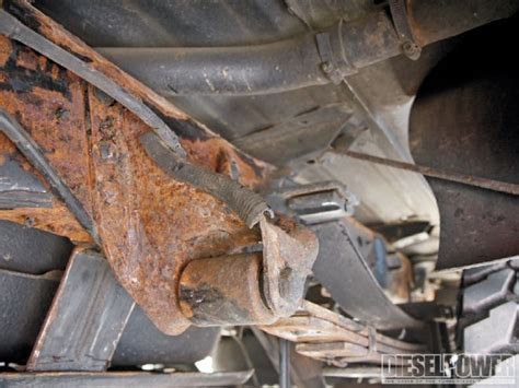 truck frame rust removal  prevention diesel power