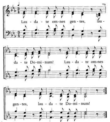 lied laudate omnes gentes noten taufe lieder lieder