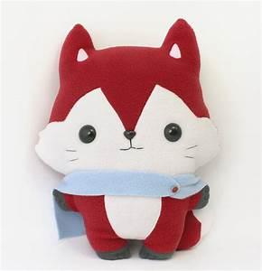 PDF sewing pattern Fox stuffed animal easy beginner cute