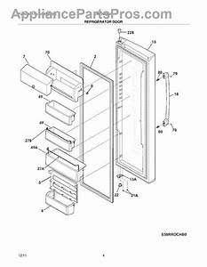 Parts For Electrolux Ew23cs65gs1  Refrigerator Door Parts