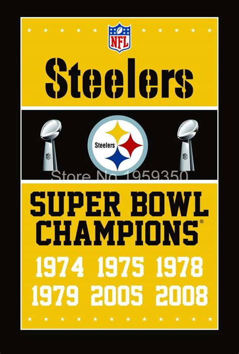 pittsburgh steelers super bowl champions flag ft  ft