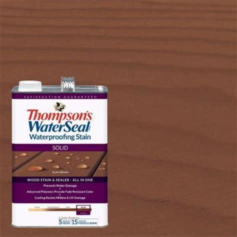 thompsons waterseal  gal solid acorn brown