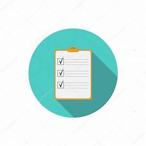 Checklist flat icon — Stock Vector © threecvet.gmail.com ...