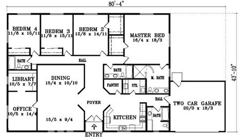 5 bedroom floor plans ranch style house plans 5 bedroom house design ideas 13971