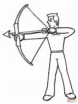 Coloring Archer Tiro Disegno Arqueiro Colorare Desenho Arciere Shoot Disegni Archery Colorir Printable Arco Pronto Medieval Drawings Ready Dibujar Tudodesenhos sketch template