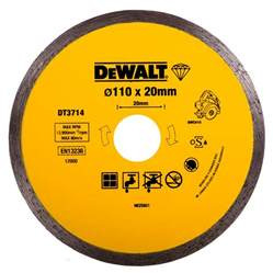 dewalt diamond tile cutting blade 110mm x 20mm fits the