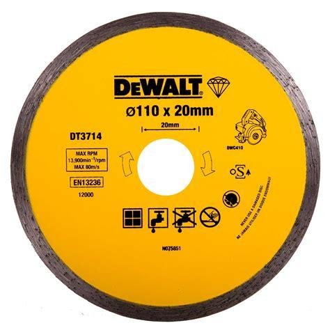 dewalt tile cutter blade dewalt tile cutting blade 110mm x 20mm fits the