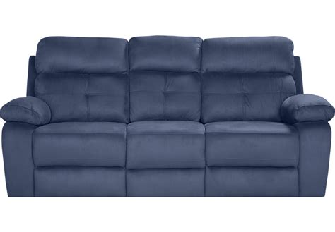 Rooms To Go Loveseat by Corinne Blue Reclining Sofa Sofas Blue