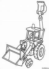Coloring Builder Bob Backhoe Excavator sketch template
