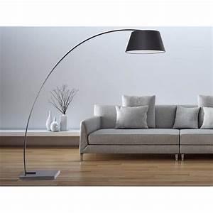 Lampe De Salon Design Sur Pied : lampadaire design luminaire lampe de salon noir benue achat vente lampadaire design ~ Melissatoandfro.com Idées de Décoration