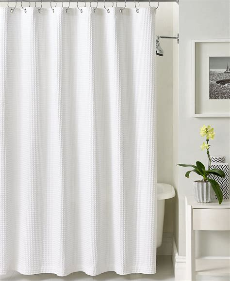 Shower Curtains by Hotel Collection Bath Accessories Waffle Shower Curtain
