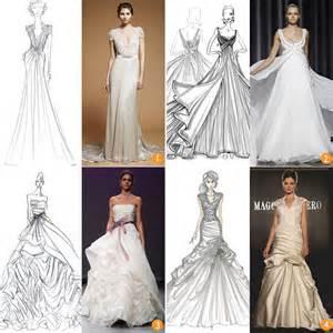 wedding gown designers designer s sketch to wedding dress itakeyou wedding