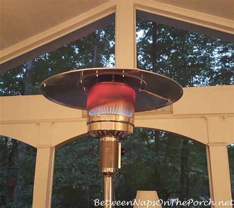 a standing outdoor heater for deck patio enjoyment this