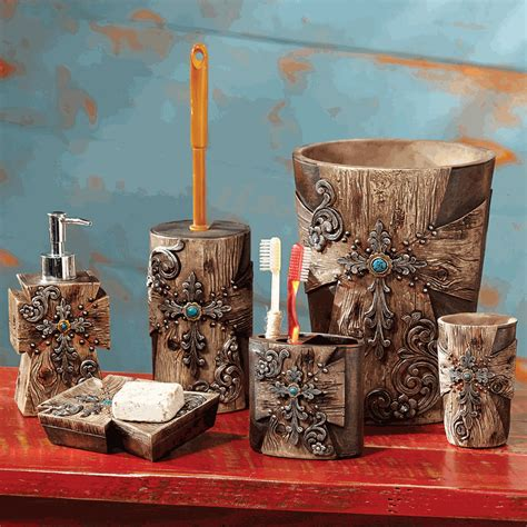 28 rustic bathroom accessories sets 187 rustic