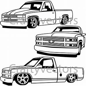 chevy lowered custom trucks etsy With custom 66 chevy trucks