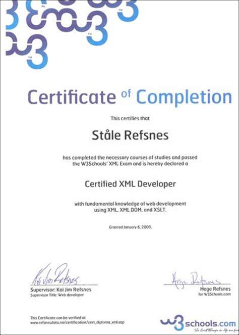 xml certification