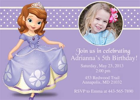 princess sofia birthday invitations ideas bagvania