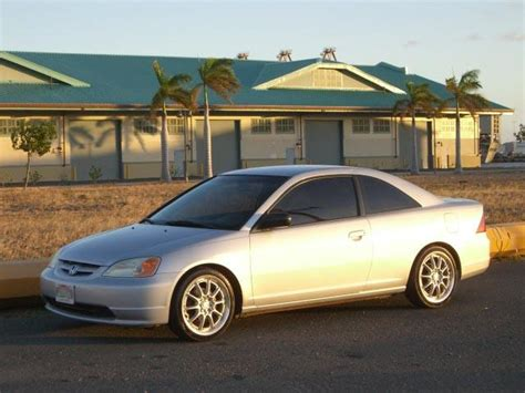 2002 Honda Civic Lx Coupe, 5spd, Drop, A/c, Tinted