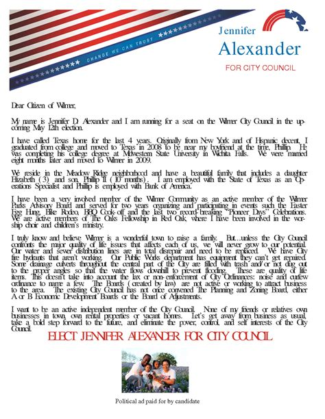 write  formal letter  city council property