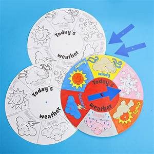 Colour Your Own Weather Wheel - Pack 12 - Create Your Own