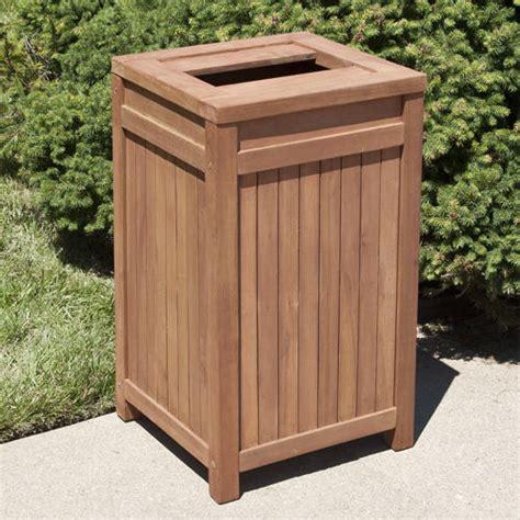 teak outdoor square trash  outdoor outdoor trash