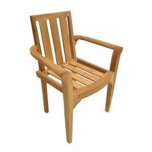 Chaise Teck Jardin : salon de jardin teck table ovale 240x120cm 6 fauteuils summer pier import ~ Teatrodelosmanantiales.com Idées de Décoration