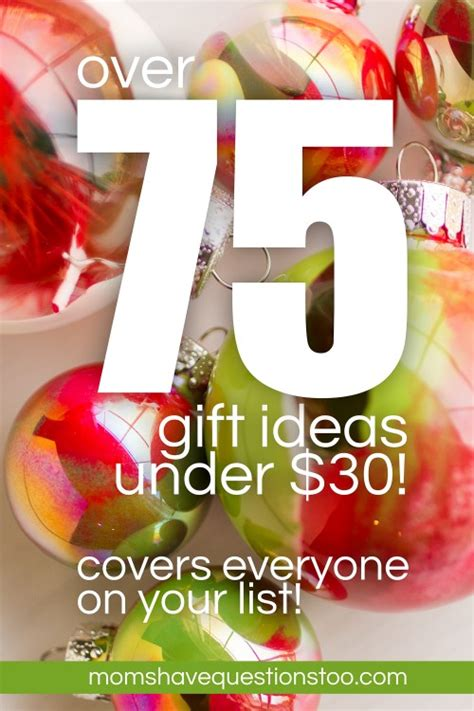over 75 gift ideas under 30 dollars most are 5 10 dollars