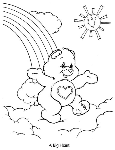 cheer bear coloring pages   print