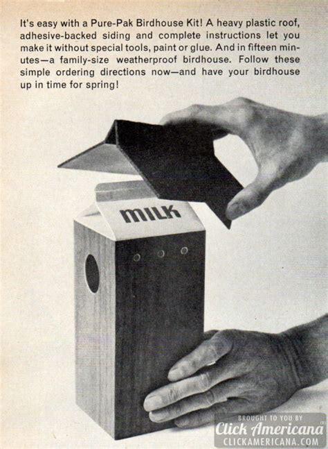 milk carton bird house  click americana