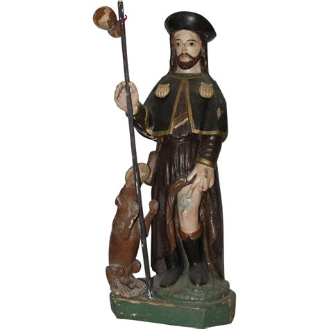 cuisiner st roch 19th century sculpture of roch rock wood carved