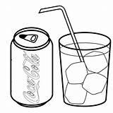 Coloring Cola Coca Drink Soft Popular Drinks Bottle Template Printable Coloringhome sketch template