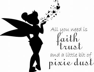 Fairy pixie dust wall quote childrens vinyl decal sticker for Good look faith trust and pixie dust wall decal