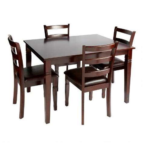 espresso dining table and chairs 5 set