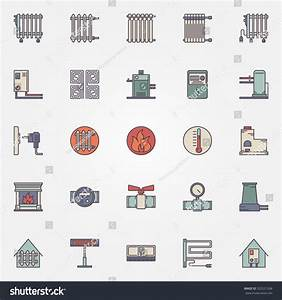Heating Icons Set Vector Flat Symbols Stock Vector 322531268