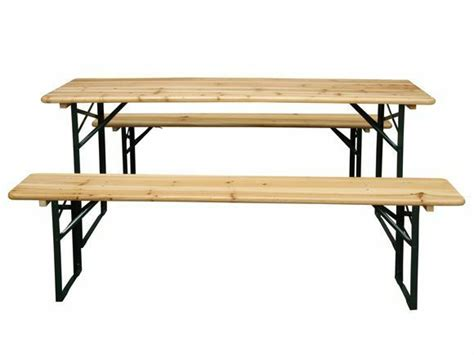 Garden Furniture Wooden Seat Folding Trestle Bench Picnic