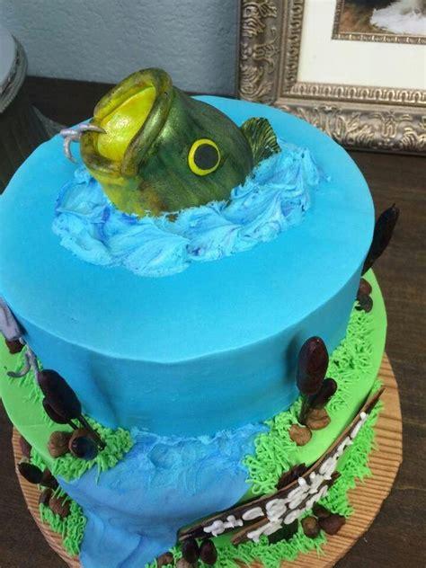 bass fishing cake  cakes fish cake birthday bass