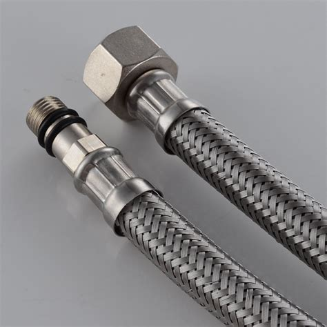 how to stop a faucet in kitchen kes ius1016 p2 faucet connector braided stainless steel