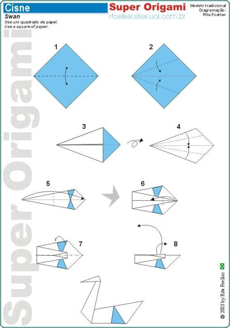 Origami Swan Instructions Paper Creations