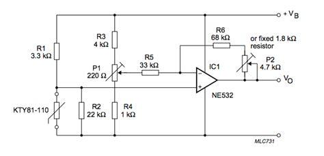 microcontroller connecting a silicon temperature sensor