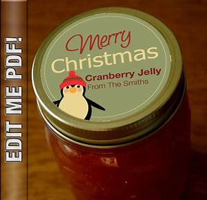 merry christmas 2 round canning labels self edit pdf With christmas canning labels