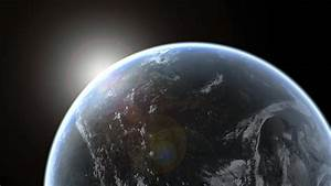 Sun, Emerging, Over, Planet, Earth