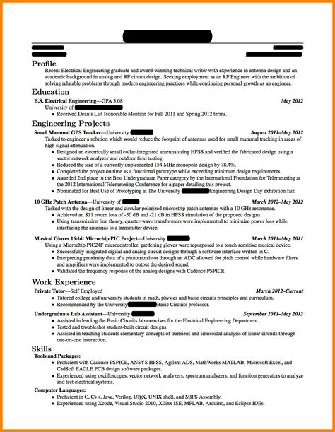 15205 resume template for fresh graduate 5 cv template for fresh engineering graduates