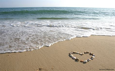 Love Beach Wallpaper